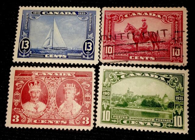 1935 Canada Stamps King George V.