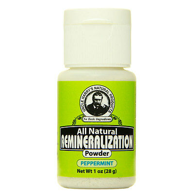 Uncle Harry's Remineralization Tooth Powder - Peppermint (1 oz)