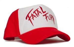 Curved Embroidered Fatal Fury Terry Bogard Red Cap Hat Andy King of ... 9920e7a9279a