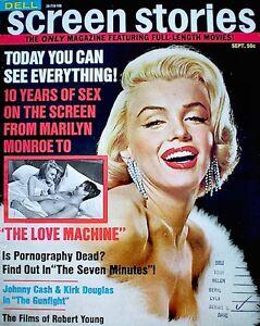 Marilyn Monroe Magazine 1971 Screen Stories Dell File Issue Brigitte Bardot VTG