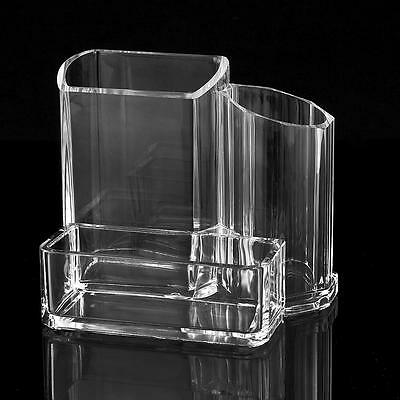 Clear Acrylic Makeup Cosmetic Organizer Lipstick Brush Display Holder Stand