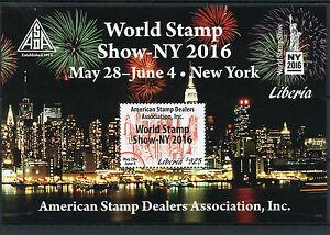 Liberia 2016 MNH World Stamp Show NY2016 ASDA 1v S/S Skyscrapers Stamps