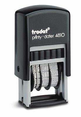 Trodat 4810 Compact Self-Inking Date Stamp, Black Ink