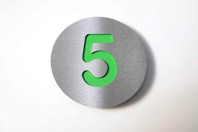 """Radius Design Hausnummer /""""5/"""" edels.//grün"""