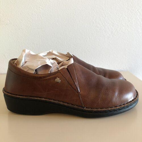 Finn Comfort Newport Brown Leather Slip On Loafer