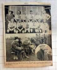 1925 Gloucs Hockey Team Photo With Spectators