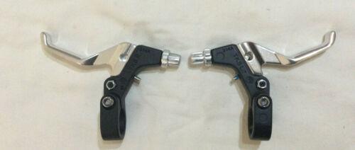 Tektro BMX Bremshebelsatz mini 2 Finger schwarz silber Lenker 22,2 ∅ neu