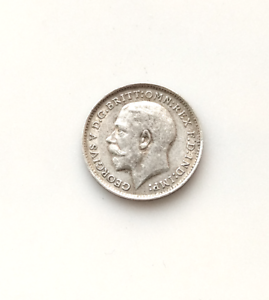 1912  George V  Silver Threepence Coin