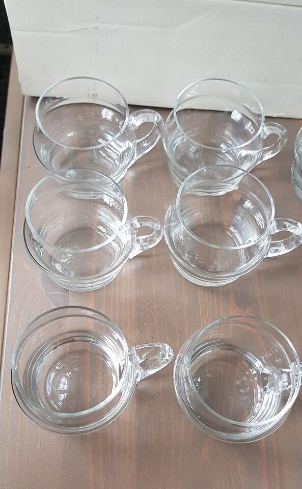 Glas, 12 kopper/krus af krystal, Glass Factory