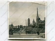 Foto, Wehrmacht, Strassenszene an der Kathedrale in Rouen, Frankreich 1228