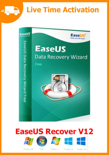 Fast Digital Download Full Version License EaseUS Data Recovery Wizard v12