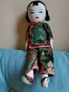 Ada Lum Doll, Vintage, Mid-Century, Girl, Silk, Made In Hong Kong, EUC, 1950s