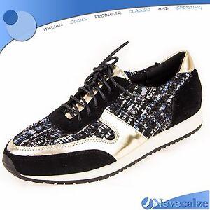 più amato 80323 907c2 Dettagli su Scarpe donna sneakers ginnastica con tacco basso tempo libero  sportive DSSCA004