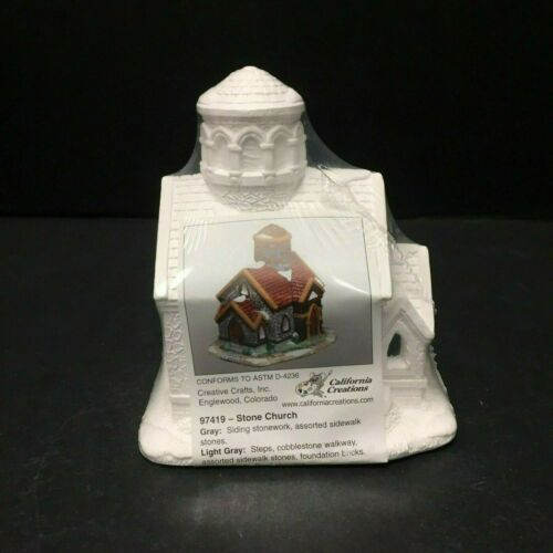 California Creation Ready to Paint Village Christmas Sealed