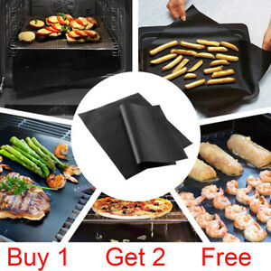 Heavy Duty Reusable Non Stick Oven Cooker Liners 3 x 40cm x 50cm Pack of Sheets