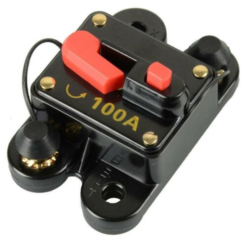 12V-24V DC Home Solar System Waterproof Circuit Breaker Reset Fuse Inverter US