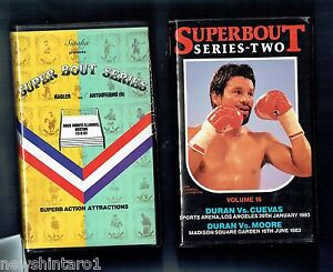 LL4-TEN-10-BOXING-VHS-VIDEO-TAPES