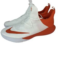 Nike Zoom Shift TB Basketball Shoes White/orange (942802 Mens 15 Shape