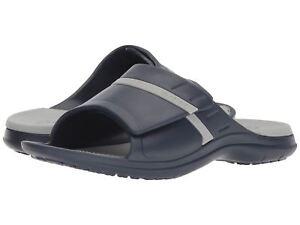 5d2d566b2c3c Crocs MODI Sport Slide Navy   Light Gray 204144-41S Men s Sandal