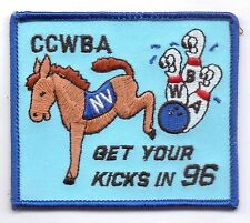 CCWBA-GET YOUR KICKS IN 96-PATCH-THREE 1/4 INCHES WIDTH-SUPER NICE