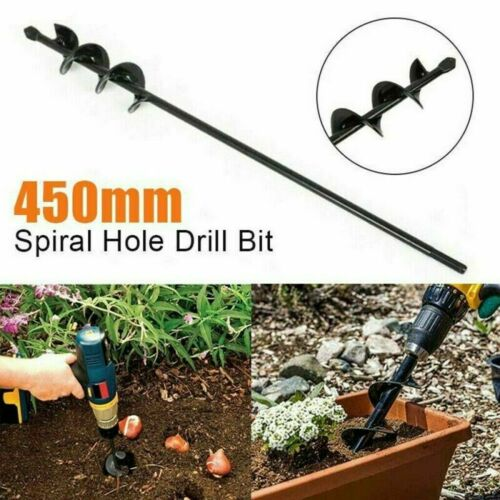 """Planting auger spiral 18/"""" hole drill for patio garden earth"""