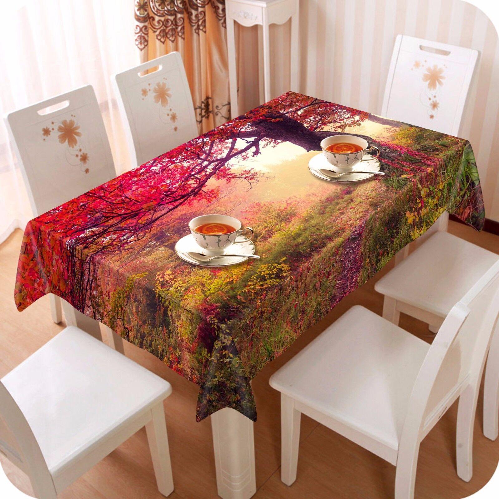 3D rouge Tree Nappe Table Cover Cloth fête d'anniversaire AJ papier peint Royaume-Uni Citron