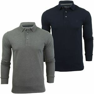 Mens-Polo-T-Shirt-by-FCUK-French-Connection-Long-Sleeved