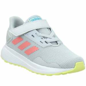 adidas Duramo 9 Lace Up   Toddler Girls  Sneakers Shoes Casual   - Grey