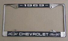 69 1969 Chevy car truck Chrome license plate frame