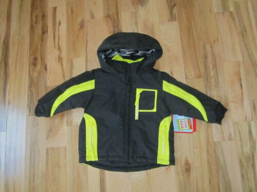 Wonderkids boys black and yellow coat 4-in-1 fleece lined hood kids winter outer