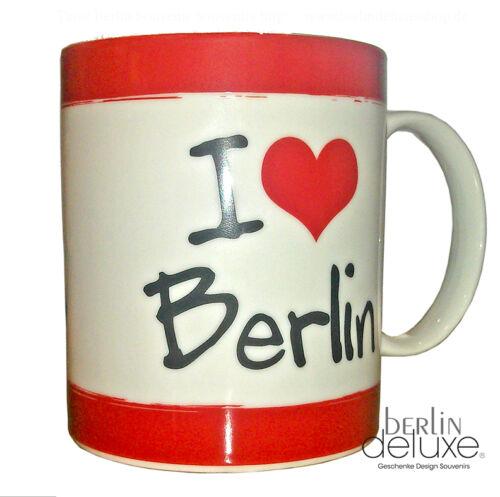 Krone NEU//OVP Kaffeebecher Teetasse Souvenir Becher Bär m Tasse I love Berlin
