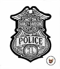 HARLEY DAVIDSON POLICE BADGE BAR AND SHIELD VEST PATCH JACKET PATCH EAGLE