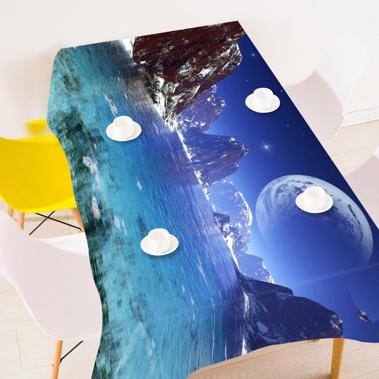 3D Blau Planet Sea 14 Tischdecken Kleidung Geburtstagsfeier Event AJ Lemon
