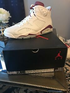 new product 8418f 20290 Details about Authentic Air Jordan retro 6 white/burgundy