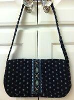 Retired Rare Small Vera Bradley Jilly Seaport Navy Bag Purse