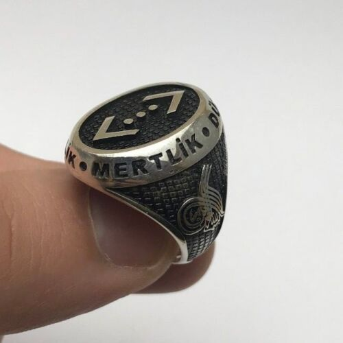 Turkish Jewelry New Cukur Motif 925K Sterling Silver Men/'s Ring