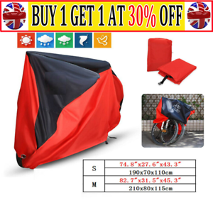 Single//Double Bicycle Bike Cycle Cover Waterproof Rain Dust Sun Protector AR UK