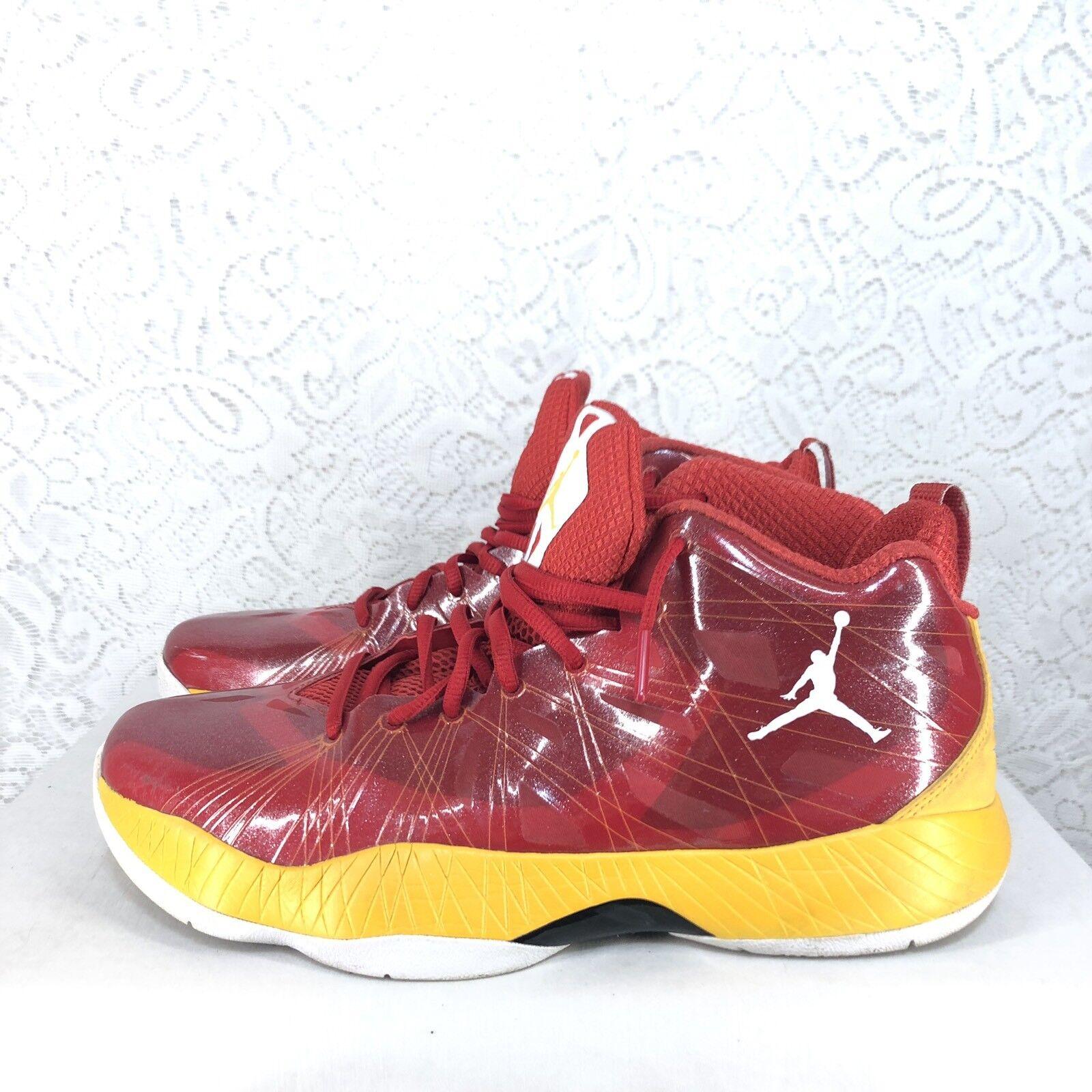 B49 Nike Air Jordan 10.5 Lite Flash Sport Red Taxi-White 524922-605 Rare 2012