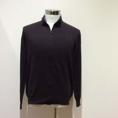 2 Colour Choices GENRES Cashmere and Cotton Half Zipped Men/'s Jumper