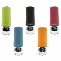 Wolfgang Puck Automatic Salt Pepper Mill Grinder Spice Adjustable Grind Green