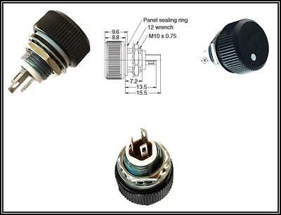 Audio Potentiometer Poti 500k 1W 10/% Cermet 1 x Turn Linear Achse 6mm 1 Stück