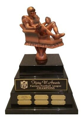3TIER LARGE ARMCHAIR QUARTERBACK FANTASY FOOTBALL TROPHY ...