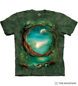 The-Mountain-100-Cotton-Moon-Tree-Adult-Unisex-Green-T-Shirt-Sizes-L-XL-NWT