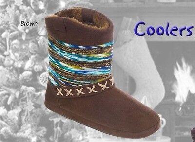 Señoras Cooler Botas Zapatillas libre Post / señoras Microfibra bootee