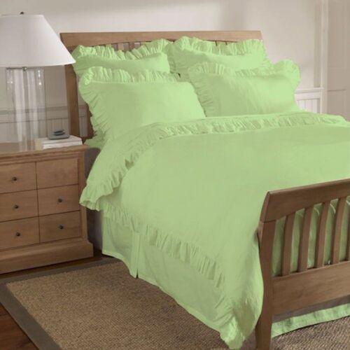 Solid Ruffle Hem Duvet Cover Set 1000-TC All Size /& Color 100/% Egyptian Cotton