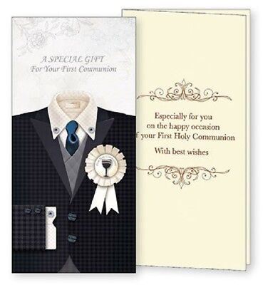 First Communion Gift Wallet Card Boy