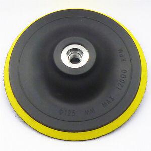 5Inch Hook And Loop Backing Pads Disc For Sander Disc Angle Grinder 125mm New AU