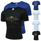 2017 Mens T-Shirt Cotton Sports Crew Neck Tee Jogging Casual Size XS S M L XL
