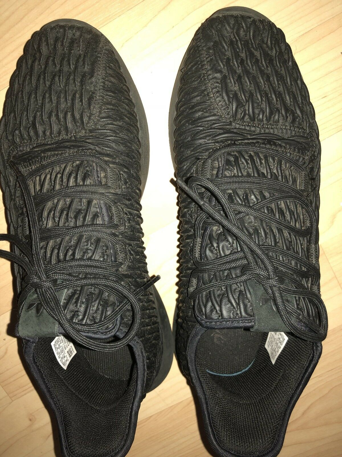adidas Tubular Black RiPPLe Athletic Running Shoes Sneakers Sz 9 Price reduction Great discount