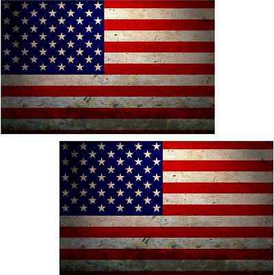 Vinyl Sticker EVM RH American Flag Decal SET USA United States Old Glory U.S